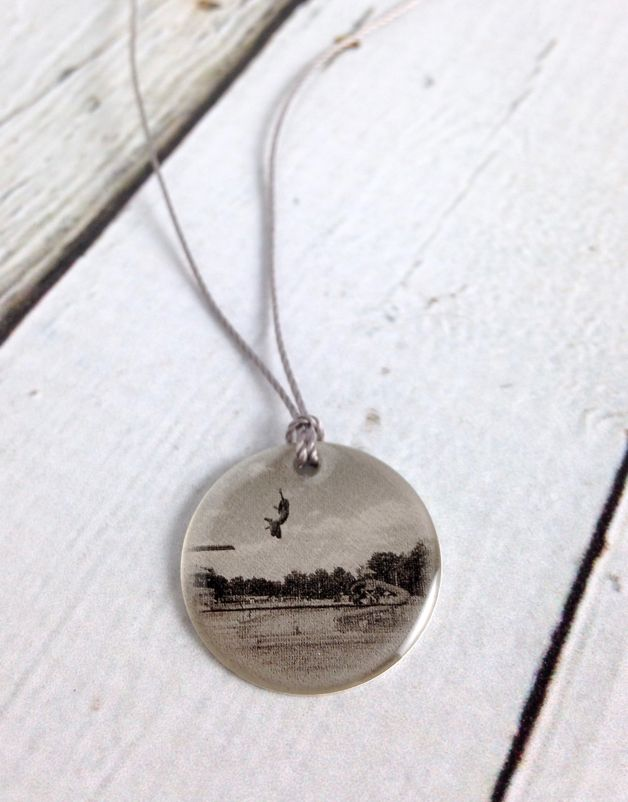 Sterling Litho Fly Dive at the Rivi Necklace - Emily Schwank Collection