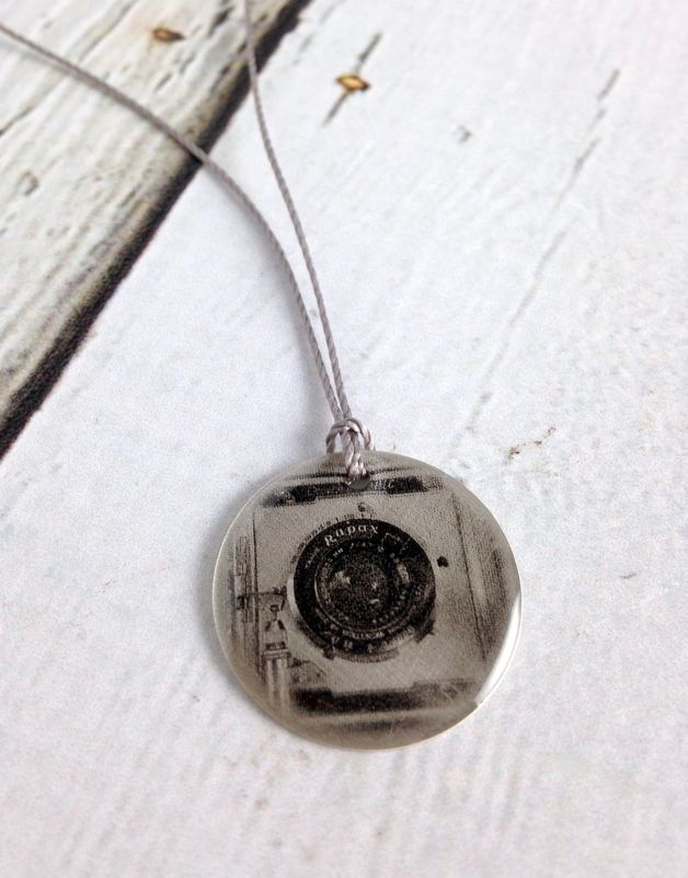 Sterling Litho Wollensak Camera with Rapax Shutter Necklace - Emily Schwank Collection
