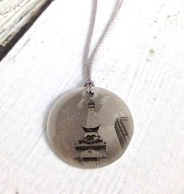 Sterling Litho Soldiers' and Sailors' Monument Necklace - Emily Schwank Collection