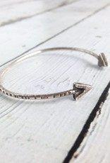 Handmade Oxidized Sterling V Bangle Bracelet