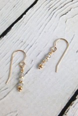 4mm Faceted Labradorite and Gold Vermeil Earrings