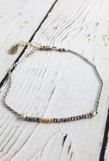 Sterling Silver and Vermeil Bead Bracelet