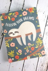 Follow Your Dreams Sloth Deconstructed Journal