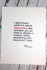 Hoosiers Black and Red Print 11x14