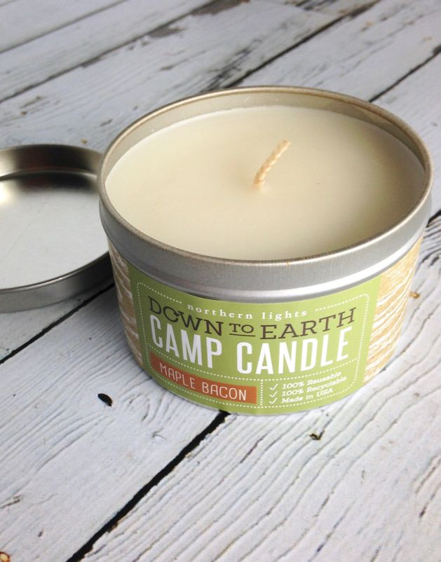 Maple Bacon Camp Tin Candle