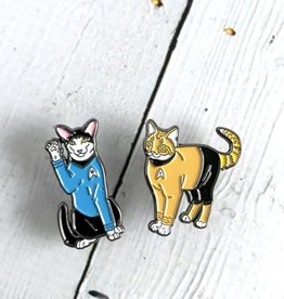Twin Pins: Star Trek Cats