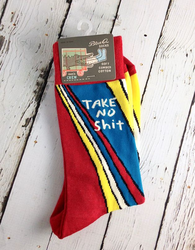 Take No Shit Men's Crew Socks