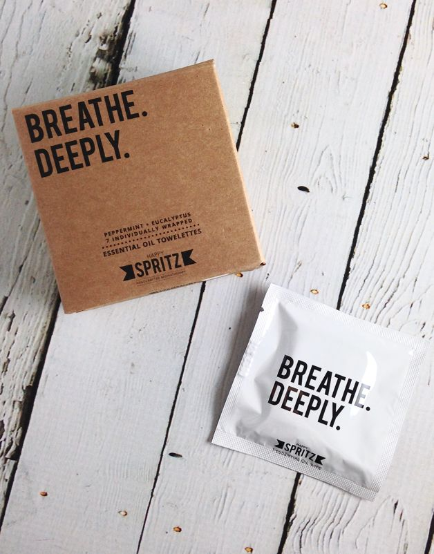 Breathe Deeply (Peppermint, Eucalyptus) Towelettes 7 Day Box