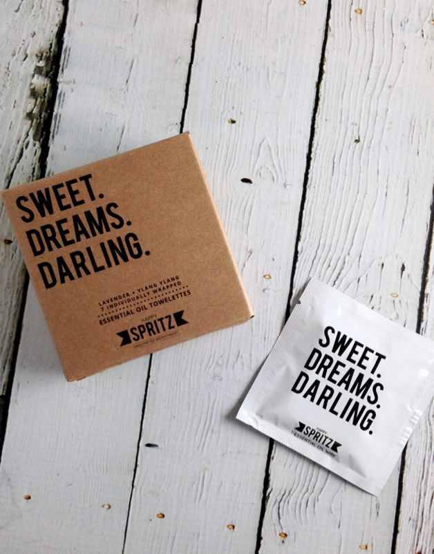 Sweet Dreams Darling (Lavender, Ylang Ylang) Towelettes 7 Day Box