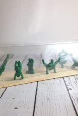 Yoga*Joes Boxed Set of 9 ADVANCED Yoga Joes, Green