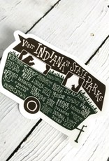 Indiana State Parks Sticker By SKY // Ritual