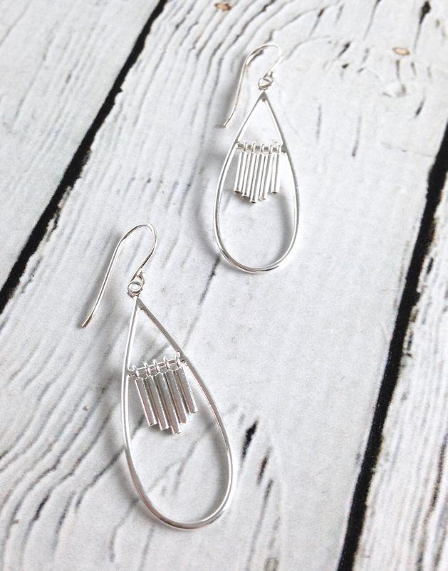 Sterling Silver Chimes Dangle Earrings