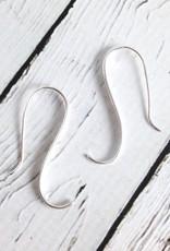 Sterling Silver Elegant Swoop Dangle Earrings