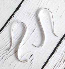 Sterling Silver Elegant Swoop Dangle Earrings