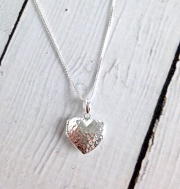 Sterling Silver Heart Locket on Chain