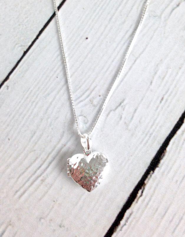 Sterling Silver Heart Locket on Chain