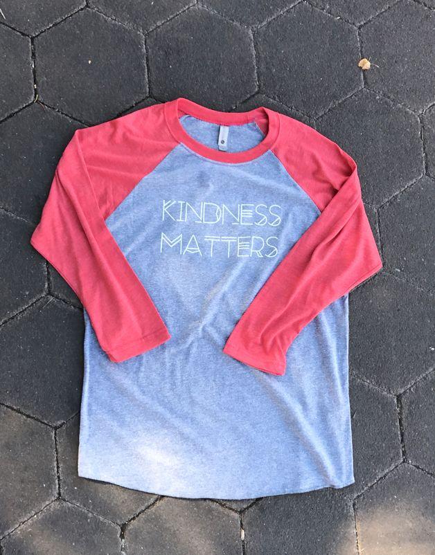 Kindness Matters Baseball Tee