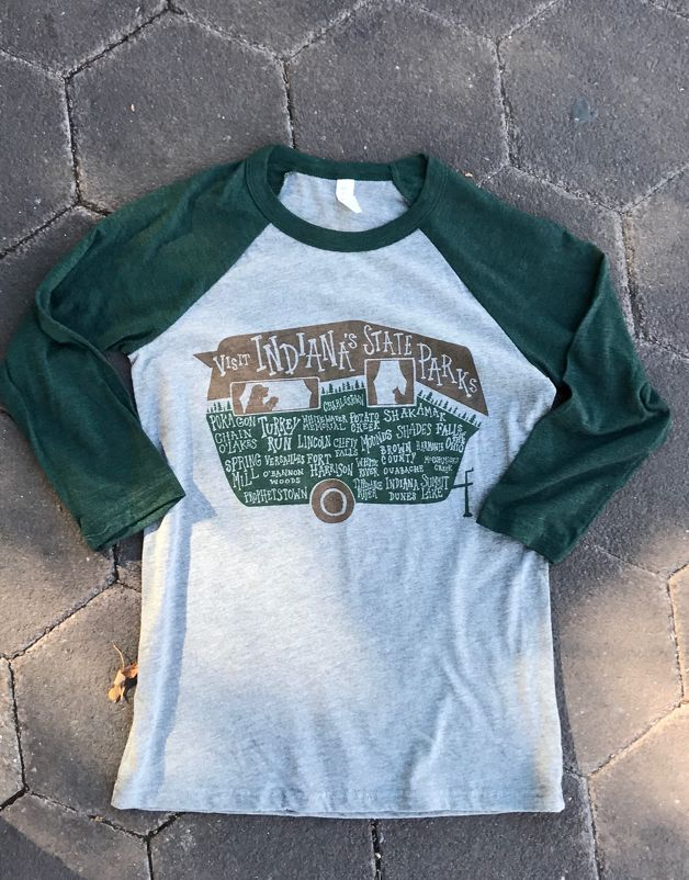 Indiana State Parks Baseball Tee by SKY // Form