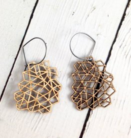 Mesh 1 Wood Earrings by Molly M. Designs