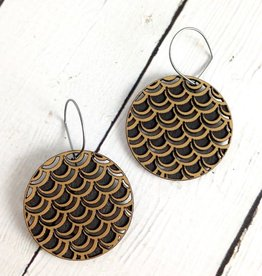 Flake 2 Wood Earrings by Molly M. Designs