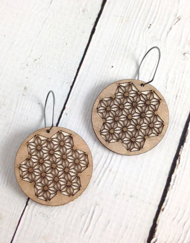 Triangulate Wood Earrings by Molly M. Designs