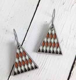 Diamande 2 Wood Earrings by Molly M. Designs