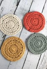 Amber Crochet Coasters, Set/4