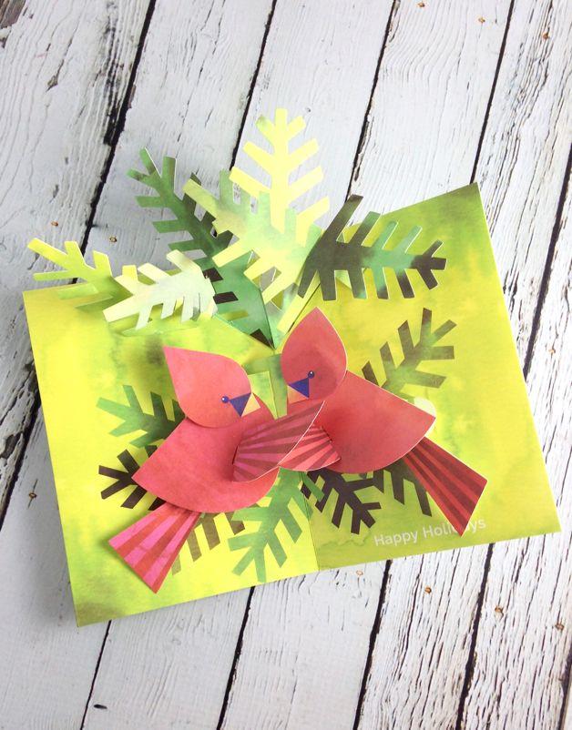 MOMA Pop-up Nestling Cardinal Set of 8 Cards
