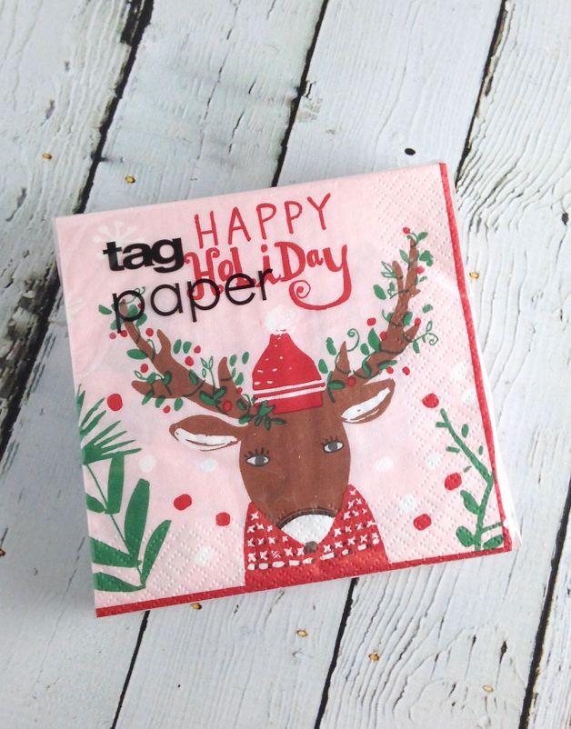 Hip Holiday Deer Paper Napkin