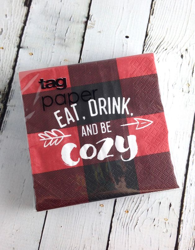 Eat Drink and Be Cozy Paper Napkins