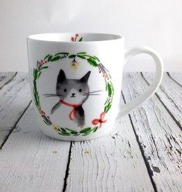 Jingle Cat Mug in a box