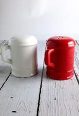 Red & White Ceramic Salt & Pepper Shakers