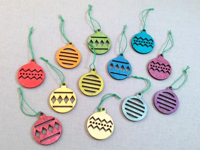 Alpine Baubles Ornaments: Set of 24