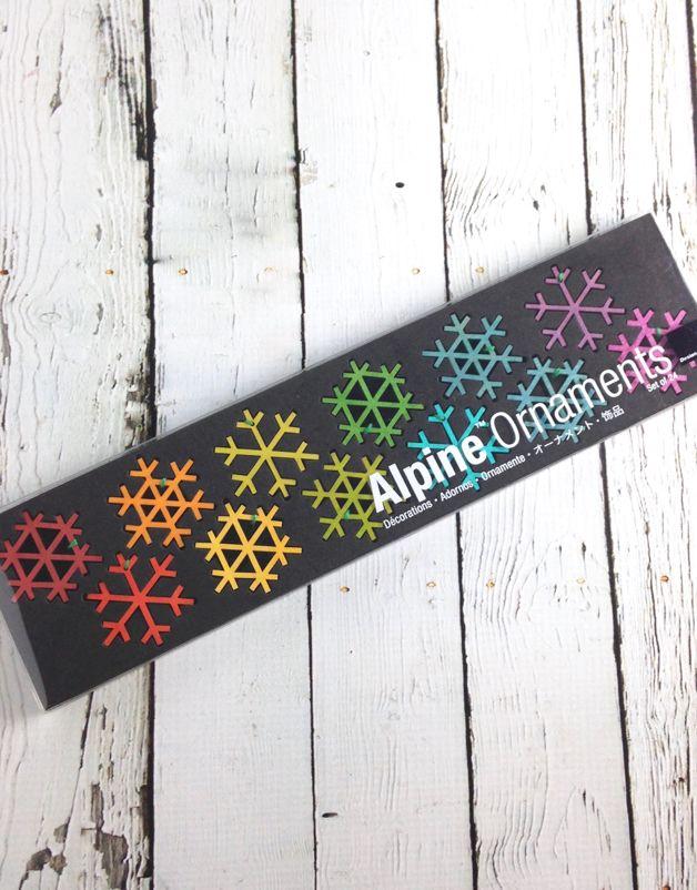 Alpine Snowflakes Ornaments: Set of 24