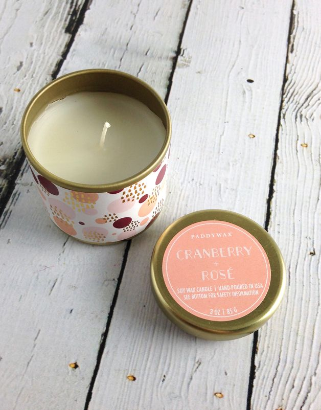 Cranberry + Rose 3oz Candle
