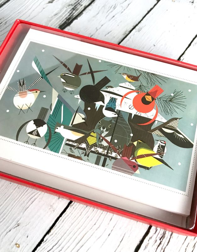Charley Harper Set/12 Holiday Boxed Cards: Winter