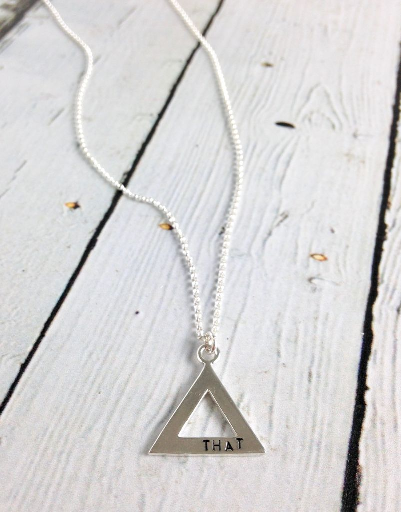 Recycled Sterling Silver FUCK / THAT Double-sided stamped Necklace by Indiana maker No Kitchen Sink