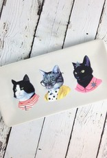 Cat Portraits Large Porcelain Tray