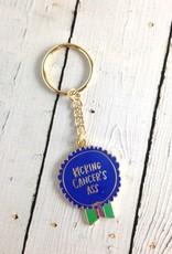 Kicking Cancer's Ass Keychain