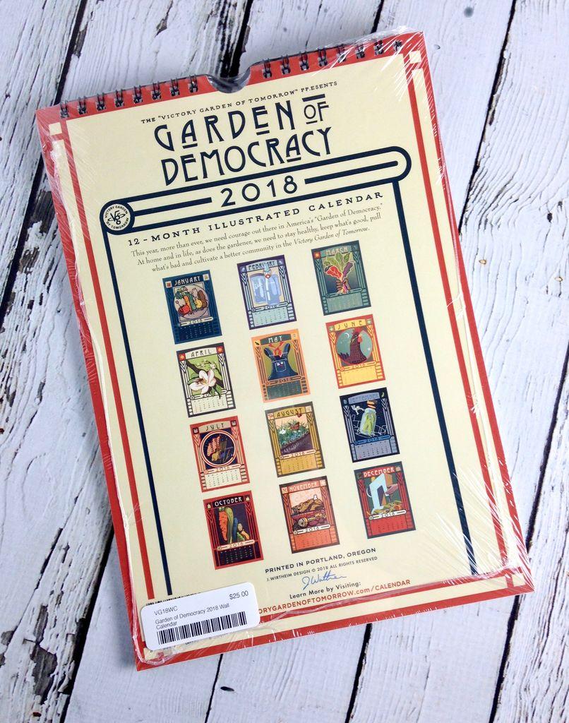 Garden of Democracy 2018 Wall Calendar