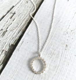 Handmade Celebrate Every Moment Dotted Circle Crystal Necklace