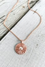 "Handmade Rose Gold ""Amazing Mom"" Radiant Glass Pearl Disc Necklace"