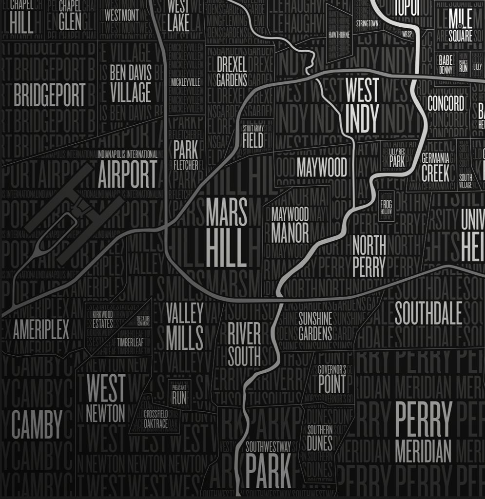 Neighborhoods of Indianapolis Poster