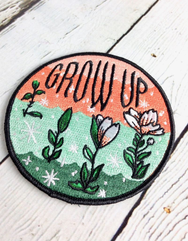 Grow Up Iron On Patch
