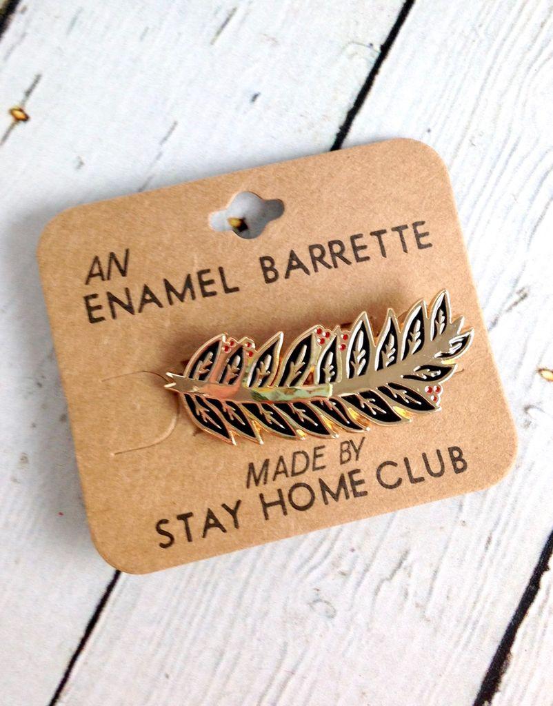 Laurel Enamel Hair Barrette