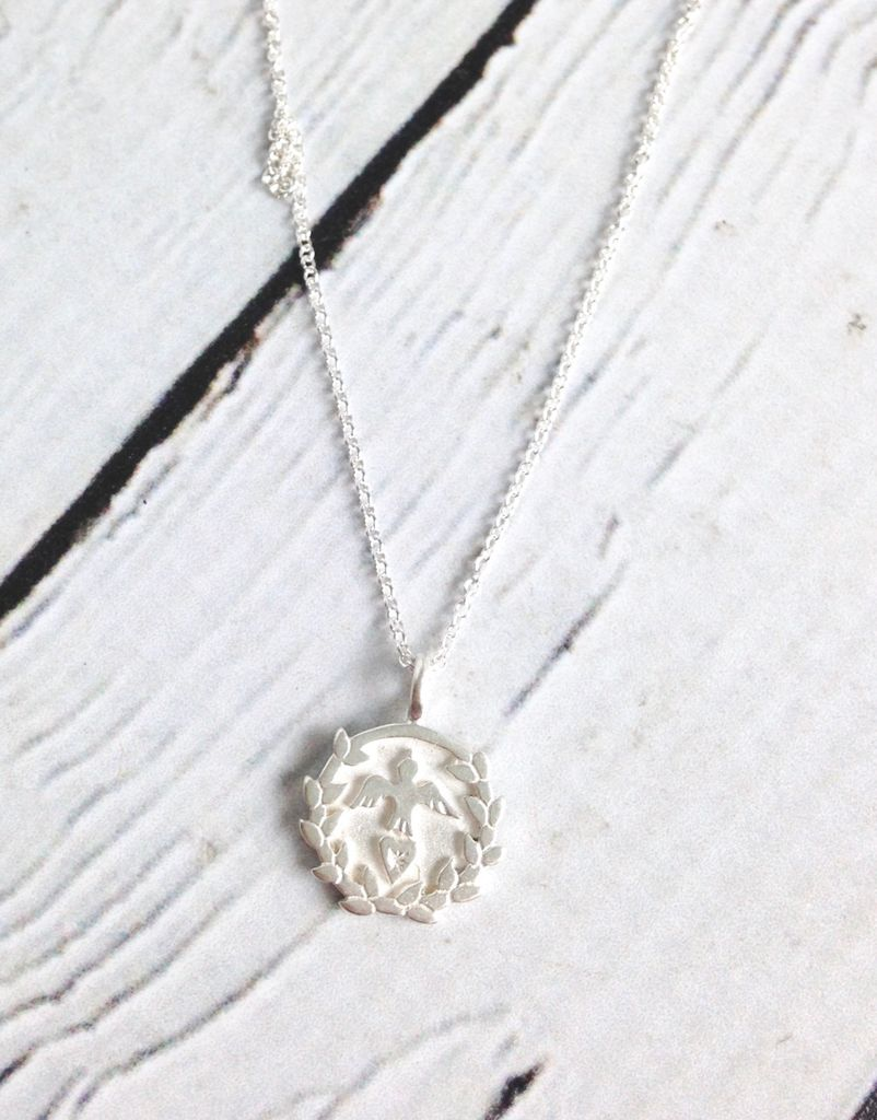 Handmade Peace, Love, Prosperity Necklace, from the Maya Angelou Legacy Collection