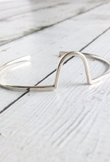 "Handmade Sterling Silver ""Hill"" Cuff Bracelet"