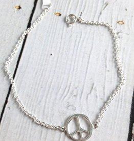 Sterling Silver Peace Bracelet