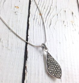 Sterling Silver Necklace with Marcasite Pendant