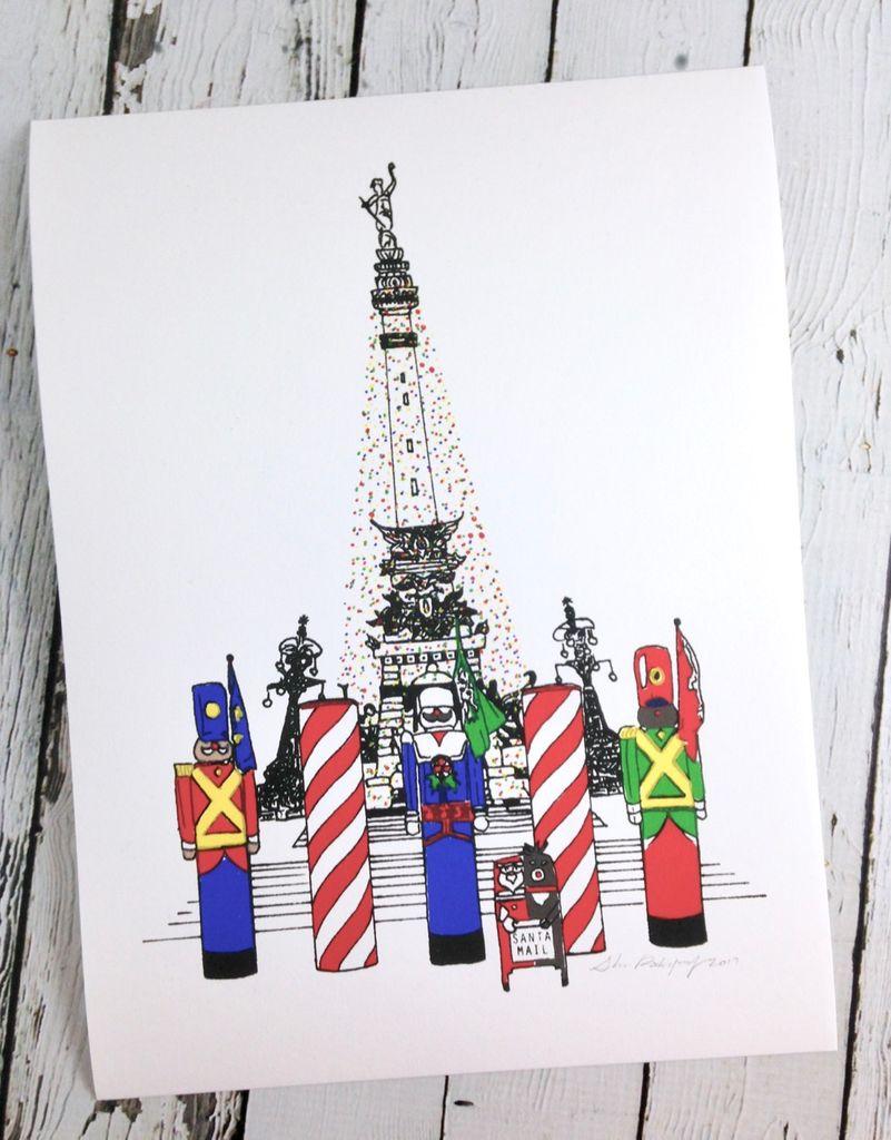 SHEA A Monumental Christmas print by Shea Rodriguez